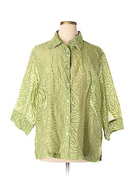 Mirasol 3/4 Sleeve Button-Down Shirt Size 2X (Plus)