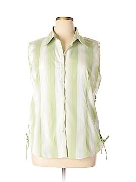 Antilia Femme Sleeveless Button-Down Shirt Size 2X (Plus)