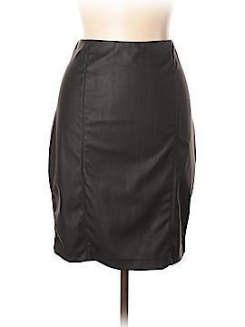 Ellen Tracy Faux Leather Skirt Size L