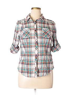 Wishful Park Long Sleeve Button-Down Shirt Size XL