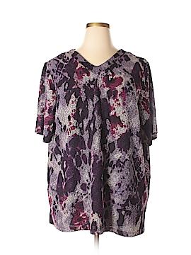 Maggie Barnes Short Sleeve Top Size 2X (Plus)