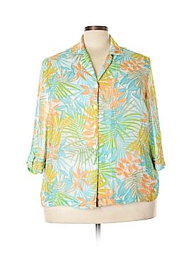 Cathy Daniels 3/4 Sleeve Blouse Size 1X (Plus)