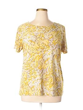 JM Collection Short Sleeve Top Size XL