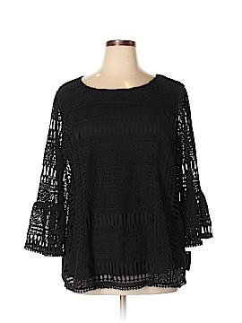 Alfani Essentials Long Sleeve Blouse Size 1X (Plus)