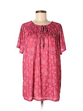 Sara Morgan for Haband Short Sleeve Blouse Size XL