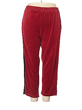 Jane Ashley Velour Pants Size 1X (Plus)