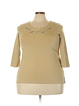 TanJay Long Sleeve Top Size 2X (Plus)