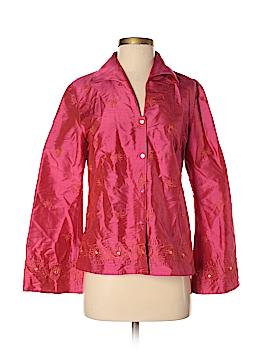 Finity Studio Long Sleeve Silk Top Size 4