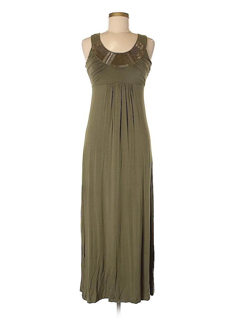 Design History Solid Dark Green Casual Dress Size M - 75% off | thredUP
