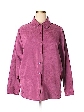 Relativity Long Sleeve Button-Down Shirt Size 3X (Plus)