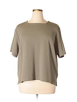 Sag Harbor Short Sleeve Blouse Size 2X (Plus)