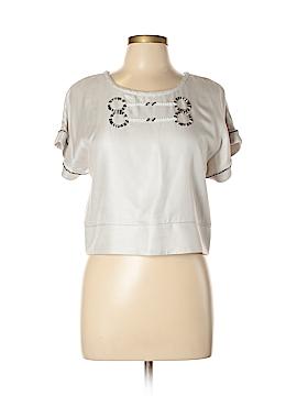 Z Spoke by Zac Posen Short Sleeve Silk Top Size 10