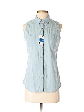 True Love Sleeveless Button-Down Shirt Size M