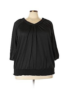 Mary McFadden 3/4 Sleeve Top Size 3X (Plus)