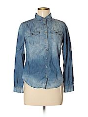 A'gaci Women Long Sleeve Button-Down Shirt Size M