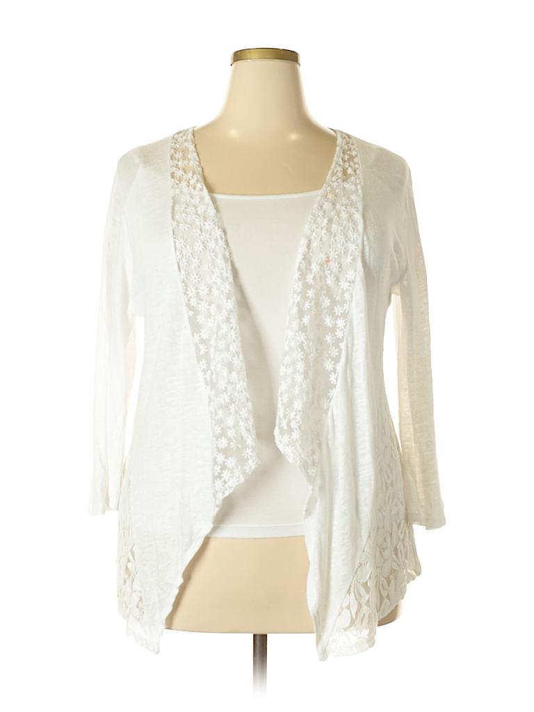 20c31545730 Cupio Lace White Cardigan Size XL - 72% off