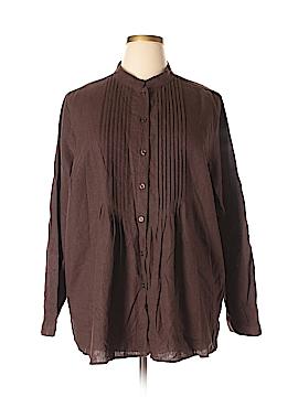 Chadwicks Long Sleeve Button-Down Shirt Size 2X (Plus)