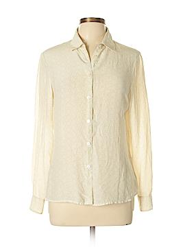 Amanda Smith Long Sleeve Silk Top Size M
