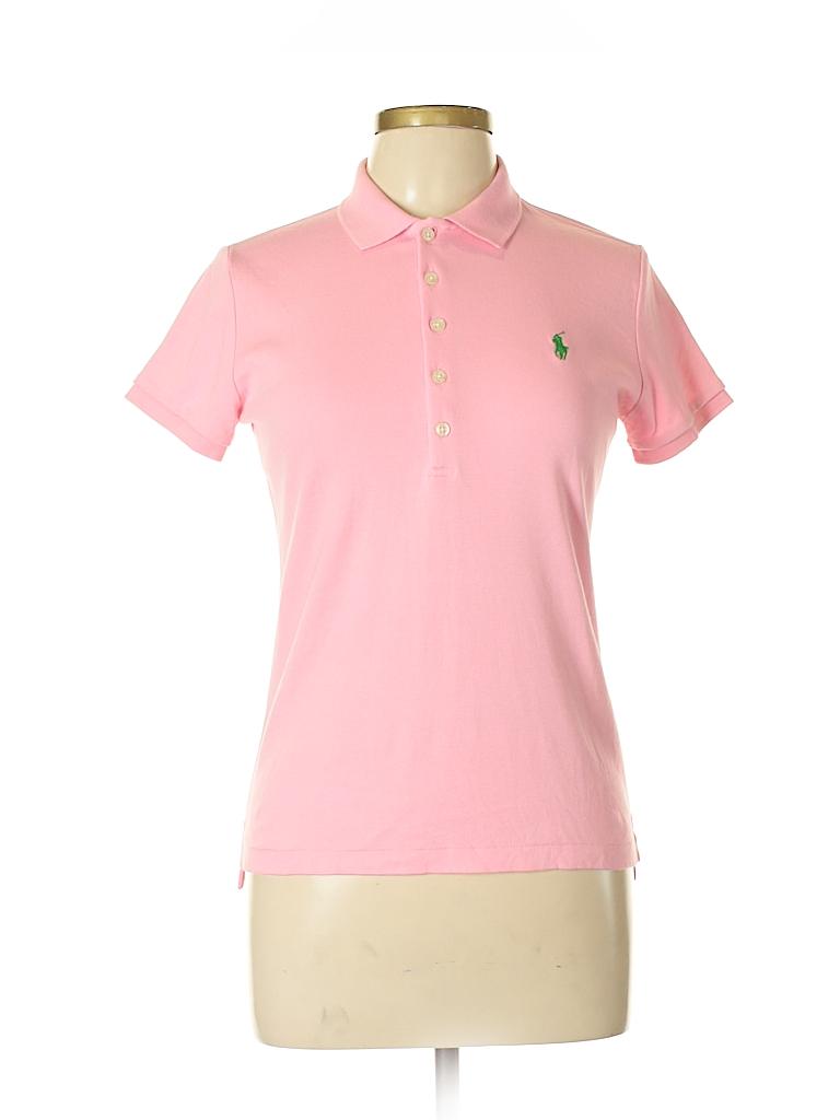 4f18fd5c59 Ralph Lauren Blue Label 100% Cotton Solid Light Pink Short Sleeve ...
