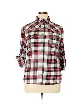 Jach's Girlfriend Long Sleeve Button-Down Shirt Size L