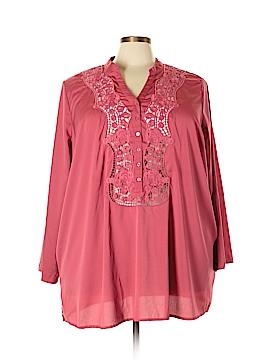 Denim 24/7 Long Sleeve Blouse Size 26W (Plus)
