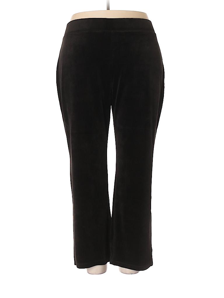 Talbots Women Velour Pants Size 2X (Plus)