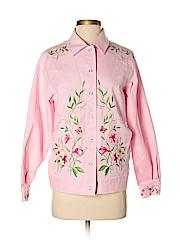 Victor Costa Women Denim Jacket Size S