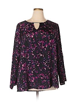 Larry Levine 3/4 Sleeve Blouse Size 3X (Plus)