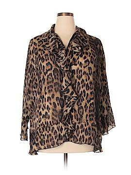 Sunny Leigh Long Sleeve Blouse Size 1X (Plus)