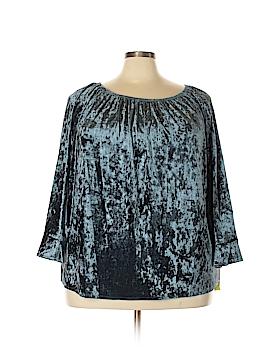 Valerie Stevens Long Sleeve Top Size 3X (Plus)