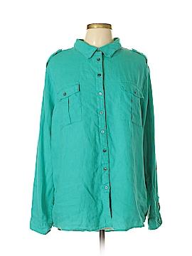 Chaus Sport Long Sleeve Button-Down Shirt Size XL