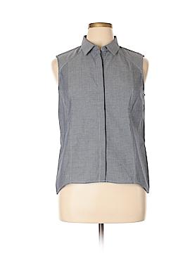 Nine West Sleeveless Button-Down Shirt Size 14
