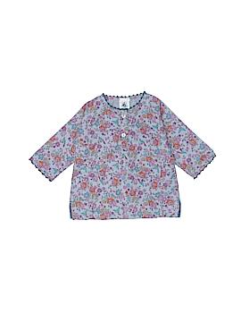Petit Bateau Long Sleeve Button-Down Shirt Size 60 (CM)