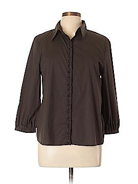 Tahari Long Sleeve Button-Down Shirt Size L