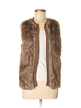 JJ Basics Faux Fur Vest Size M