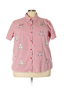 Quacker Factory Short Sleeve Button-Down Shirt Size 3X (Plus)