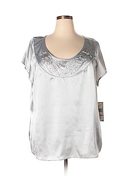 Jones New York Short Sleeve Blouse Size 24 (Plus)