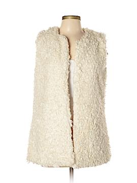 H&M L.O.G.G. Faux Fur Vest Size 10