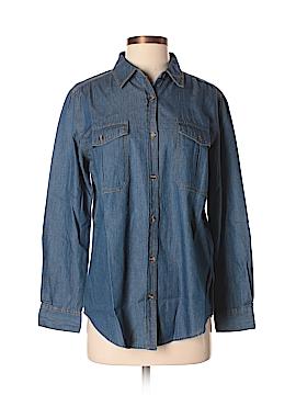 Noble U Long Sleeve Button-Down Shirt Size S