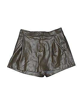 Zara Basic Faux Leather Shorts Size M