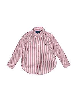 Ralph Lauren Baby Long Sleeve Button-Down Shirt Size 4T