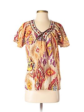 Life Style Short Sleeve Blouse Size M