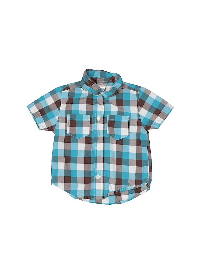Gymboree Outlet Boys Short Sleeve Button-Down Shirt Size 0-3 mo