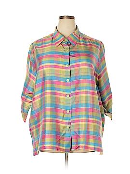 Maggie Barnes 3/4 Sleeve Silk Top Size 26 (Plus)