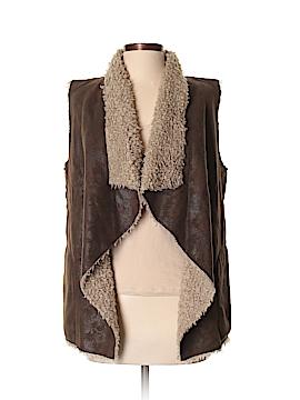 Velvet Faux Leather Jacket Size S