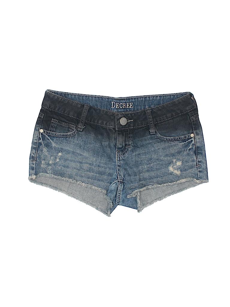 dd206e2c69 Decree 100% Cotton Solid Blue Denim Shorts Size 3 - 88% off   thredUP