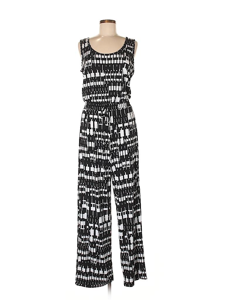 b40882100562 Calvin Klein Print Black Jumpsuit Size 8 - 75% off