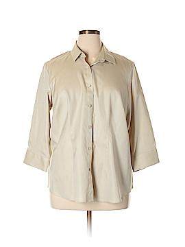 Coldwater Creek 3/4 Sleeve Button-Down Shirt Size 1X (Plus)