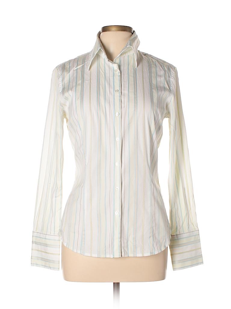 Express Design Studio Women Long Sleeve Button-Down Shirt Size 10