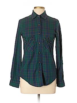 Leara Woman Long Sleeve Button-Down Shirt Size M